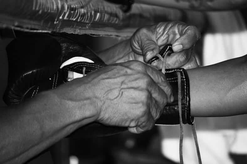 gants boxe reparer